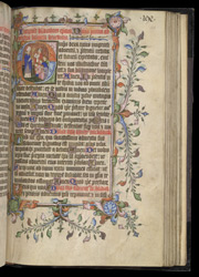 Historiated Initial With A Bishop Blessing, In The Evesham Pontifical
